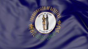 Waving flag of Kentucky state. 3D rendering Royalty Free Stock Images