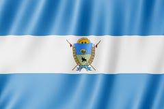 Flag of La Pampa Province, Argentina. Waving Flag of La Pampa Province, Argentina Royalty Free Stock Image