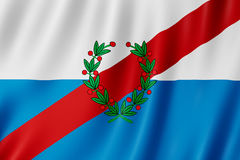 Flag of La Rioja Province, Argentina. Waving Flag of La Rioja Province, Argentina Stock Photography