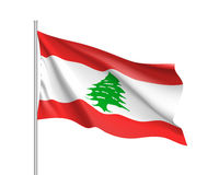 Waving flag of Lebanese Republic Royalty Free Stock Photography