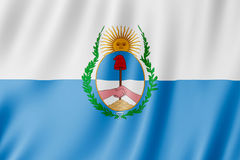 Flag of Mendoza Province, Argentina. Waving Flag of Mendoza Province, Argentina Royalty Free Stock Photos