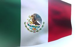 Waving Flag of Mexico wave. Video stock footage