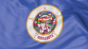 Waving flag of Minnesota state. 3D rendering Stock Photography