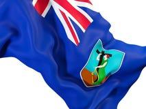 Waving flag of montserrat Royalty Free Stock Photo