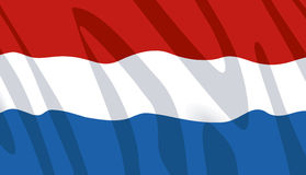 Waving flag of the Netherlands. Dutch wavy flag. Available in Vector format Royalty Free Stock Photo