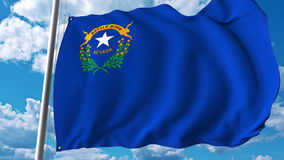 Waving flag of Nevada. 3D rendering Stock Photos
