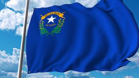 Waving flag of Nevada vector illustration