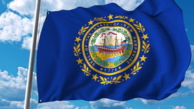 Waving flag of New Hampshire. 3D rendering Stock Image
