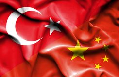 Free Waving Flag Of China And  Turkey Stock Image - 153203791