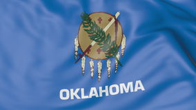 Waving flag of Oklahoma state. 3D rendering Stock Photography
