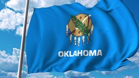Waving flag of Oklahoma vector illustration
