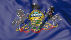 Waving flag of Pennsylvania state. 3D rendering Royalty Free Stock Photography
