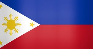 Waving Flag of Philippines Looping Background vector illustration