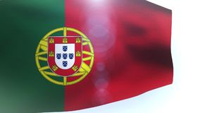 Waving flag of Portugal blowing in the wind. Video stock footage