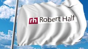 Waving flag with Robert Half International logo. Editoial 3D rendering Stock Images
