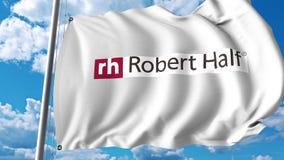 Waving flag with Robert Half International logo. 4K editorial animation. Waving flag with Robert Half International logo. 4K editorial clip vector illustration