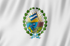 Flag of Rosario city, Argentina. Waving Flag of Rosario city, Argentina Stock Photography
