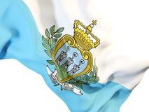 Waving flag of san marino Royalty Free Stock Photo