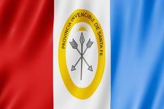 Flag of Santa Fe Province, Argentina. Waving Flag of Santa Fe Province, Argentina Stock Photos