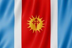 Flag of Santiago del Estero Province, Argentina. Waving Flag of Santiago del Estero Province, Argentina Stock Images