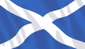 Waving flag of Scotland. Scottish wavy flag. Vector format available Royalty Free Stock Photo