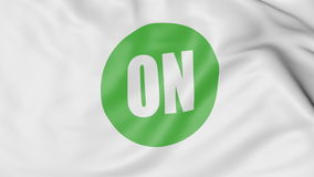 Waving flag with On Semiconductor logo. Editorial 3D rendering. Waving flag with On Semiconductor logo. Editorial 3D Royalty Free Stock Photography