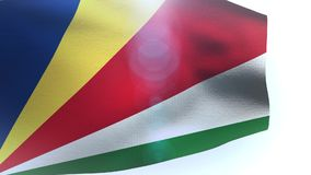 Waving flag of Seychelles isolated on white background. Video stock video