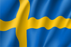 Waving flag of Sweden Royalty Free Stock Photos