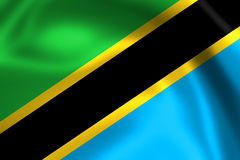 Waving flag of Tanzania Royalty Free Stock Image