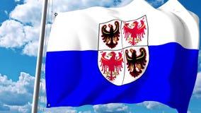 Waving flag of Trentino-Alto Adige, a region of Italy. 3D rendering. Waving flag of Trentino-Alto Adige, a region of Italy. 3D Royalty Free Stock Photo