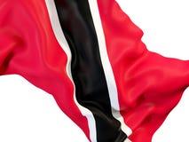 Waving flag of trinidad and tobago Royalty Free Stock Photos