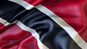 Waving flag of Trinidad and Tobago stock photography