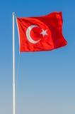Waving flag of Turkey Stock Photos