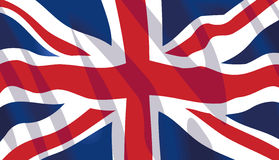 Waving flag of United Kingdom Royalty Free Stock Images