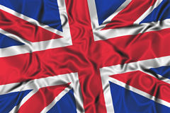 Waving flag of the United Kingdom stock illustration