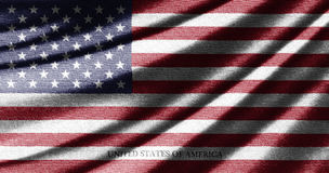 Waving flag of United States of America Royalty Free Stock Images