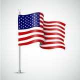 Waving Flag of the USA. Vector illustration. Waving Flag of the USA. Vector Royalty Free Stock Images