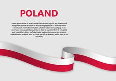 Waving Flag vector illustration royalty free illustration