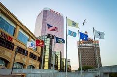 Waving Flags Atlantic City stock photography