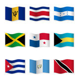 Waving flags of different countries 9 Royalty Free Stock Photography