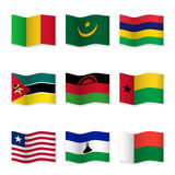 Waving flags of different countries Stock Images