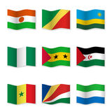 Waving flags of different countries Royalty Free Stock Photography