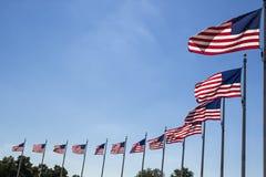 Waving Flags. Flags waving at Washington Monument stock photos