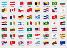 Waving flags of the world. Collection of flags Stock Images