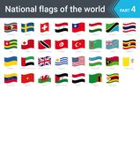 Waving flags of the world. Collection of flags - full set of national flags. Waving flags of the world part 4. Collection of flags - full set of national flags Royalty Free Stock Image