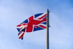 Waving flag of united Kingdom royalty free stock photography