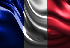 Waving french flag Stock Photography