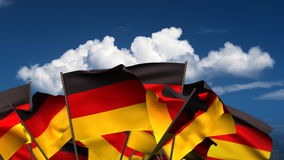 Waving German Flags stock video