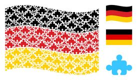 Waving Germany Flag Pattern of Component Icons stock illustration