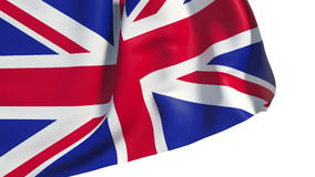 Waving Great Britain flag stock footage